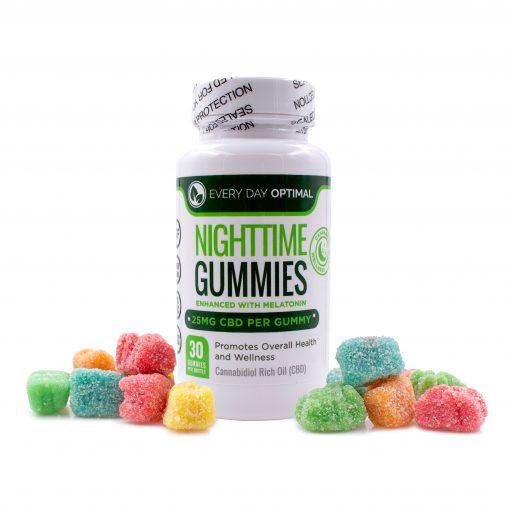 Nighttime gummies - 25mg - 30 count - showing bears