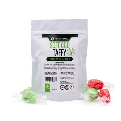 Soft CBD Taffy - Every Day Optimal - 100mg Per Pack